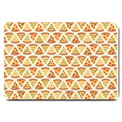 Food Pizza Bread Pasta Triangle Large Doormat  by Mariart
