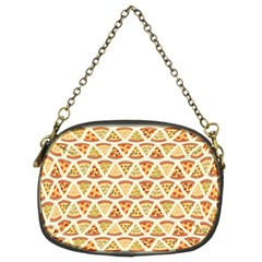 Food Pizza Bread Pasta Triangle Chain Purses (two Sides)  by Mariart