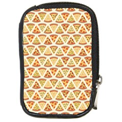 Food Pizza Bread Pasta Triangle Compact Camera Cases by Mariart