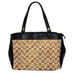 Food Pizza Bread Pasta Triangle Office Handbags by Mariart