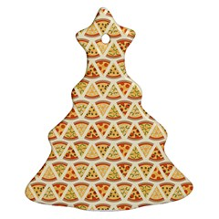 Food Pizza Bread Pasta Triangle Christmas Tree Ornament (two Sides) by Mariart