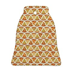 Food Pizza Bread Pasta Triangle Bell Ornament (two Sides) by Mariart