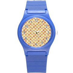 Food Pizza Bread Pasta Triangle Round Plastic Sport Watch (s) by Mariart