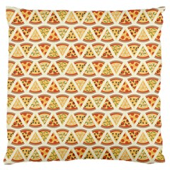 Food Pizza Bread Pasta Triangle Large Cushion Case (two Sides) by Mariart