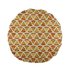 Food Pizza Bread Pasta Triangle Standard 15  Premium Round Cushions by Mariart