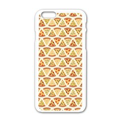 Food Pizza Bread Pasta Triangle Apple Iphone 6/6s White Enamel Case by Mariart