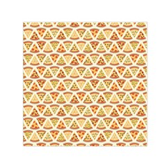 Food Pizza Bread Pasta Triangle Small Satin Scarf (square) by Mariart