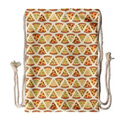 Food Pizza Bread Pasta Triangle Drawstring Bag (large) by Mariart