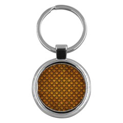 Scales2 Black Marble & Yellow Grunge Key Chains (round)  by trendistuff