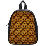 SCALES2 BLACK MARBLE & YELLOW GRUNGE School Bag (Small) Front