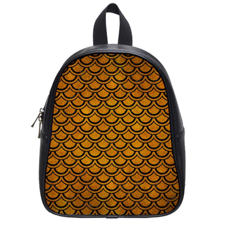 SCALES2 BLACK MARBLE & YELLOW GRUNGE School Bag (Small)
