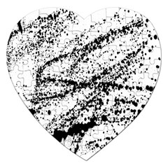 Ink Splatter Texture Jigsaw Puzzle (heart) by Mariart
