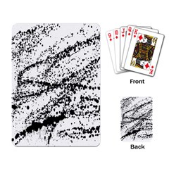 Ink Splatter Texture Playing Card by Mariart