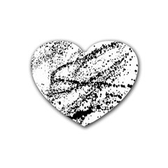 Ink Splatter Texture Rubber Coaster (heart)  by Mariart