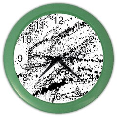 Ink Splatter Texture Color Wall Clocks by Mariart