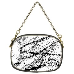 Ink Splatter Texture Chain Purses (one Side)  by Mariart