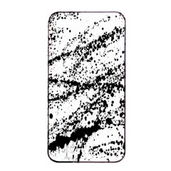 Ink Splatter Texture Apple Iphone 4/4s Seamless Case (black) by Mariart