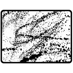 Ink Splatter Texture Double Sided Fleece Blanket (large)  by Mariart