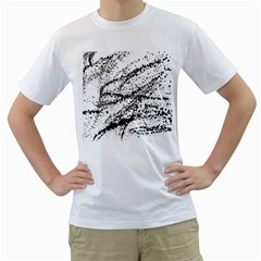 Ink Splatter Texture Men s T Shirt (white)  by Mariart