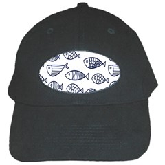 Love Fish Seaworld Swim Blue Sea Water Cartoons Black Cap by Mariart
