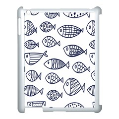 Love Fish Seaworld Swim Blue Sea Water Cartoons Apple Ipad 3/4 Case (white) by Mariart