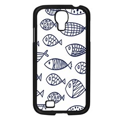 Love Fish Seaworld Swim Blue Sea Water Cartoons Samsung Galaxy S4 I9500/ I9505 Case (black) by Mariart