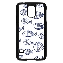 Love Fish Seaworld Swim Blue Sea Water Cartoons Samsung Galaxy S5 Case (black) by Mariart