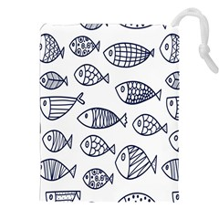 Love Fish Seaworld Swim Blue Sea Water Cartoons Drawstring Pouches (xxl) by Mariart