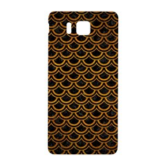 Scales2 Black Marble & Yellow Grunge (r) Samsung Galaxy Alpha Hardshell Back Case by trendistuff