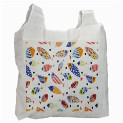 Love Fish Seaworld Swim Blue White Sea Water Cartoons Rainbow Recycle Bag (one Side) by Mariart