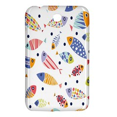 Love Fish Seaworld Swim Blue White Sea Water Cartoons Rainbow Samsung Galaxy Tab 3 (7 ) P3200 Hardshell Case