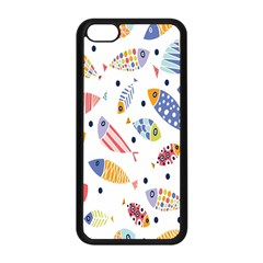 Love Fish Seaworld Swim Blue White Sea Water Cartoons Rainbow Apple Iphone 5c Seamless Case (black) by Mariart