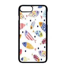 Love Fish Seaworld Swim Blue White Sea Water Cartoons Rainbow Apple Iphone 8 Plus Seamless Case (black) by Mariart