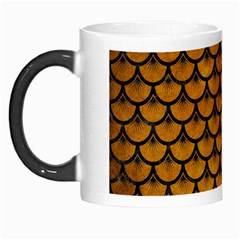 Scales3 Black Marble & Yellow Grunge Morph Mugs by trendistuff