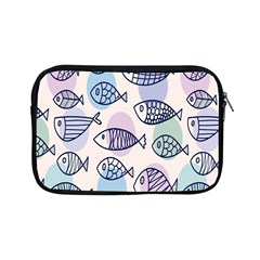 Love Fish Seaworld Swim Blue White Sea Water Cartoons Rainbow Polka Dots Apple Ipad Mini Zipper Cases