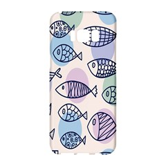 Love Fish Seaworld Swim Blue White Sea Water Cartoons Rainbow Polka Dots Samsung Galaxy S8 Hardshell Case