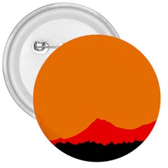 Mountains Natural Orange Red Black 3  Buttons by Mariart