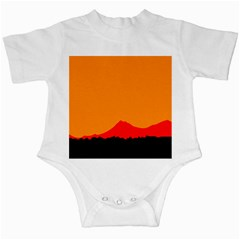 Mountains Natural Orange Red Black Infant Creepers