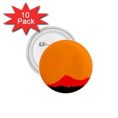 Mountains Natural Orange Red Black 1 75  Buttons (10 Pack)