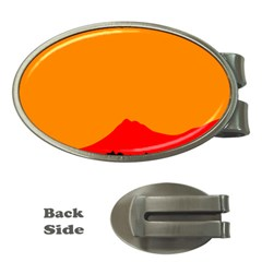 Mountains Natural Orange Red Black Money Clips (oval)