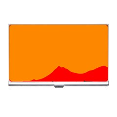 Mountains Natural Orange Red Black Business Card Holders