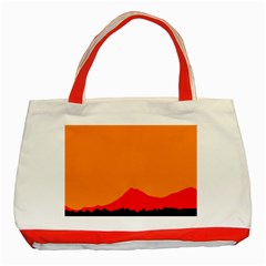 Mountains Natural Orange Red Black Classic Tote Bag (red)