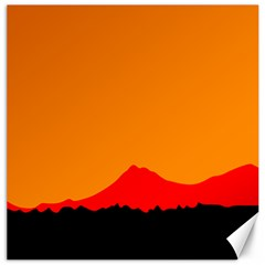 Mountains Natural Orange Red Black Canvas 20  X 20