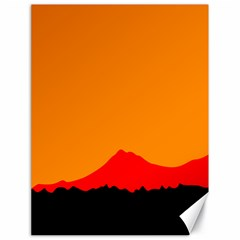 Mountains Natural Orange Red Black Canvas 18  X 24