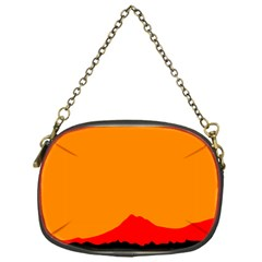 Mountains Natural Orange Red Black Chain Purses (one Side)  by Mariart