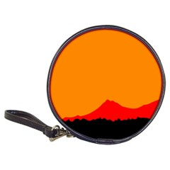 Mountains Natural Orange Red Black Classic 20 Cd Wallets