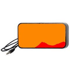 Mountains Natural Orange Red Black Portable Speaker by Mariart