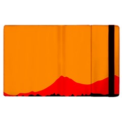 Mountains Natural Orange Red Black Apple Ipad 2 Flip Case