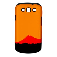 Mountains Natural Orange Red Black Samsung Galaxy S Iii Classic Hardshell Case (pc+silicone) by Mariart