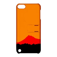 Mountains Natural Orange Red Black Apple Ipod Touch 5 Hardshell Case With Stand